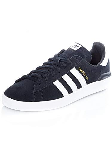adidas Campus ADV, Scarpe da Skateboard Unisex-Adulto, Nero (Negbás/Ftwbla/Ftwbla 000), 40 2/3 EU