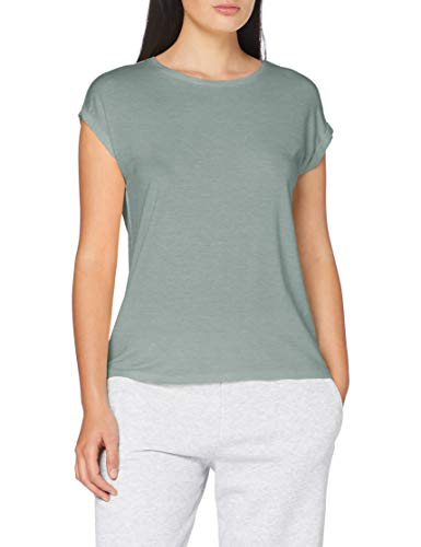 Vero Moda VMAVA Plain SS Top GA Color T-Shirt, Blu Placid, M Donna