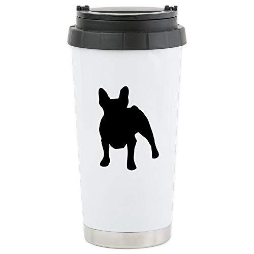 CafePress French Bulldog Stainless Steel Travel Mug Stainless Steel Travel Mug, Insulated 16 oz. Coffee Tumbler