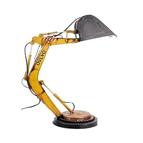 Lámpara de escritorio Digger Lámpara de mesa movible led, Vintage Estilo Industrial Ajustable...