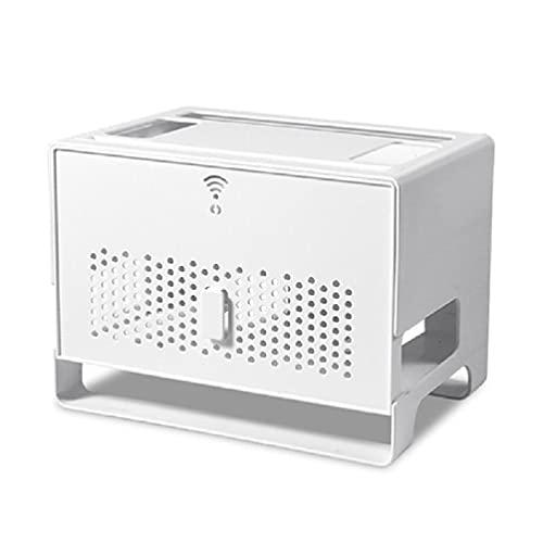 Caja de almacenamiento a prueba de polvo router WiFi Caja organizadora de...