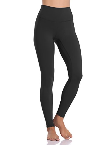 Colorfulkoala Women's Buttery Soft High Waisted Yoga Pants Full-Length Leggings (M, Black)
