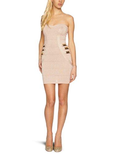 Lipsy Damen Kleid (knielang) JD01927, Gr. 40 (14), Beige (nude)