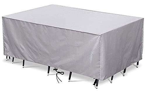 Funda para Muebles de Jardín,160x140x95cm(63.0x55.1x37.4in) Patio Cubierta de Mesa para Muebles,Impermeable ,Anti-UV, Resitente al Polvo 420D Oxford Sofá Chaise Longue Funda Rectangular,Plata