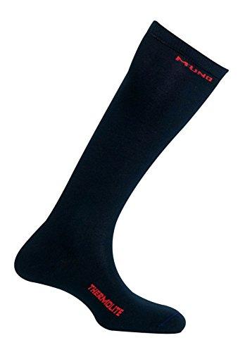 Mund Socks Chaussette de ski thermique avec fibre Thermolite® sans coutures (Navy, EU 38-41)