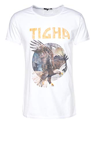 Tigha Herren T-Shirt Eagle Wren Weiß L
