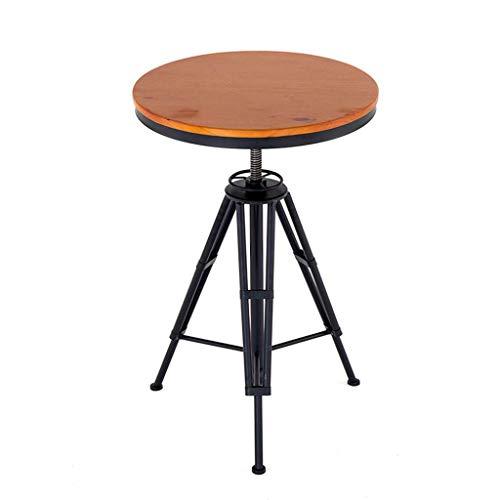 HUAXUE ZHXZHXMY Simple Family Stool Industrie Barhocker, Kaffee Küche Speisestuhl, Bar Tisch, Low Back, Rundsitz, Metallhaltig, verstellbar in Höhe, 330 lbs Kapazität (Size : Table)