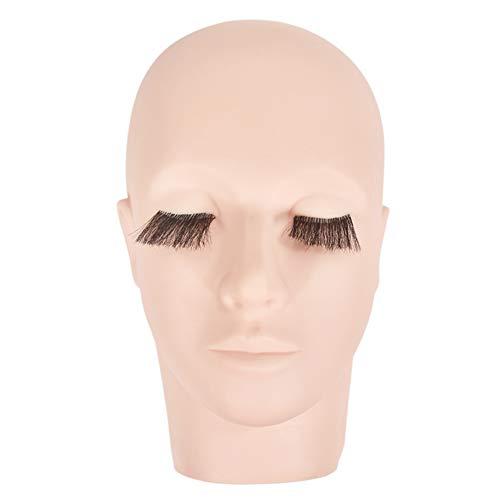 LYHD Tête de Mannequin PVC 3D Simulation Formation Visage Tête Plate Maquillage Pratique Cils Extension Beauté Cils Cils Extensions