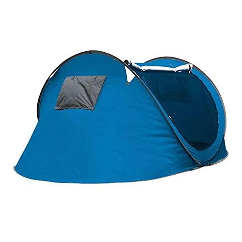 ZCZZ Carpa Familiar para Trabajo Pesado 3-4 Personas Carpa para Acampar al Aire Libre Automático Abierto Impermeable Toldo para sombrilla de una Sola Capa con Bolsa de Almacenamiento