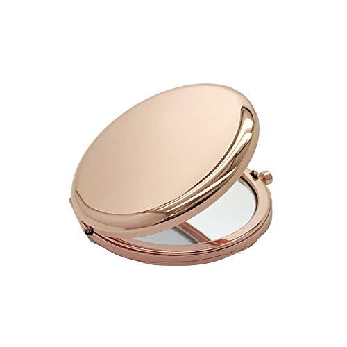 hearsbeauty Miroir De Maquillage Portable Couleur Unie Boîte Ronde En Métal Double-Side Pop-Up Pocket Kit D'outils Cosmétiques Légers 2.56\