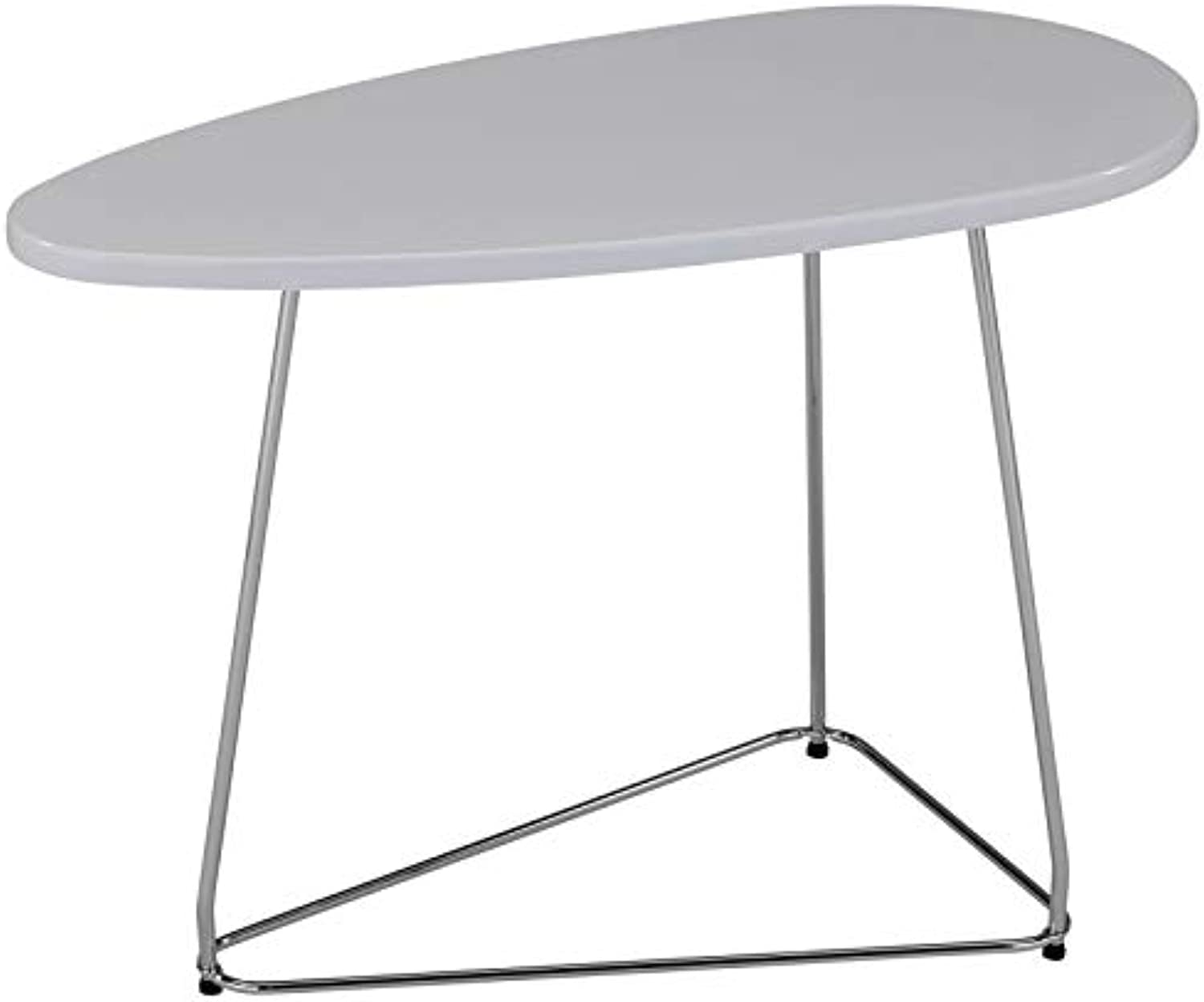 Jama Contemporary Wood & Metal Accent Table in White
