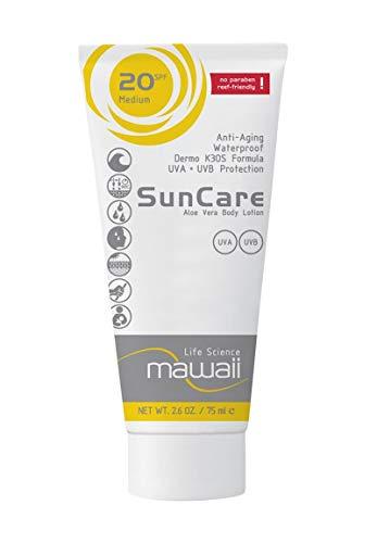 mawaii SunCare SPF 20 - wasserfeste und schweissresistente Sonnencreme, reef-friendly, ideal für Wassersport und Outdoor-Sport, Anti-Aging Sonnenschutz, Sonnenmilch ohne Parabene (1 x 75ml)
