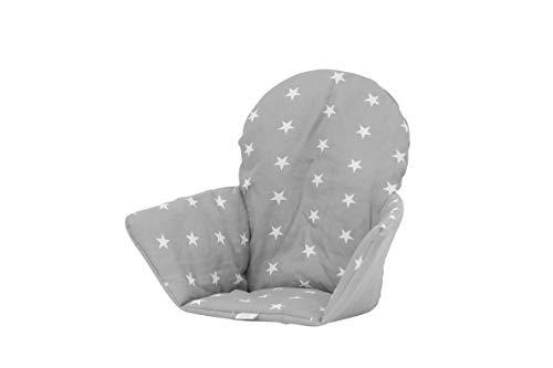 Polini Kids Sitzkissen Sitzeinlage für Ikea Antilop Stars grau