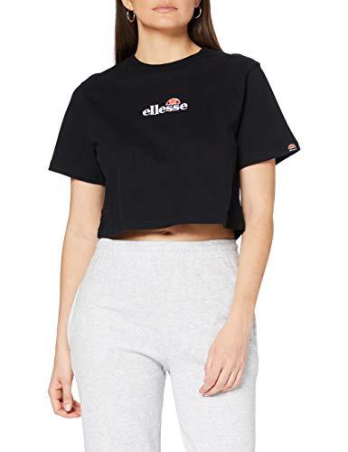 Ellesse Fireball Cropped T-Shirt Camiseta, Mujer, Black, XS