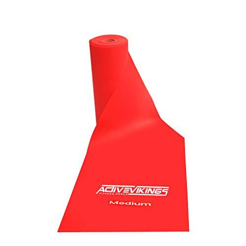 ActiveVikings - Fascia fitness, 20 metri, rotoli in 3 spessori, ideale per sviluppare i muscoli, fisioterapia, pilates, yoga, ginnastica, fitness, ginnastica, esercizi di resistenza