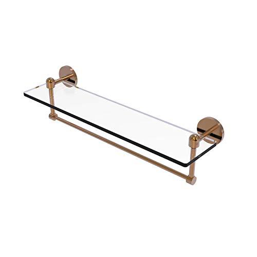 Allied Brass TA-1TB/22-BBR Glass Shelf with Towel Bar, 22-Inch x 5-Inch