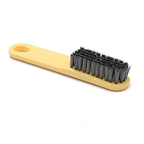 Lpiotyuxs Cepillo El Cepillo de plástico para el hogar, Usado para Ropa, Zapatos, dormitorios, se Siente cómodo, no le Duele Las Manos y es fácil de Llevar (Color : Yellow)