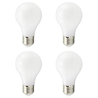 A19 E27 LED Bulbs,Low Voltage AC DC 12V-24V 4W,Solar Powered Lamp A60,40W Traditional Light Equivalent,400Lumen 360 Degree for RV Camper Marine,White, Warm White 3000K,4 Pack