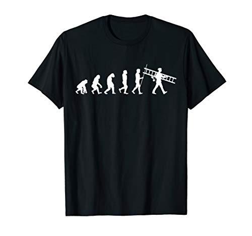 Herren Evolution Schornsteinfeger   Kaminkehrer Kaminfeger T-Shirt