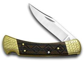 Buck 110 Wood Timber Rattler 1/100 Folding Hunter Custom Pocket Knife Knives