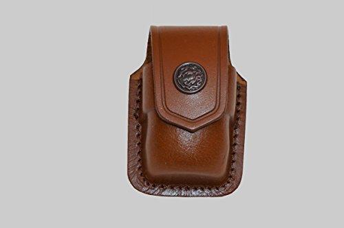 ALS037 Single Speedloader Carrier/case/Pouch 357 Magnum 6 & 7 Shots, 44 Magnum 5 Shot, S&W .38 Special 6 Shot speedloaders Genuine Leather Handmade!