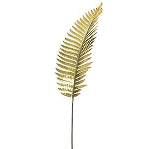 """Silk Flower Arrangements Arcadia Silk Plantation 39"""" Metallic Fern Spray Antique Gold (Pack of 12)"""