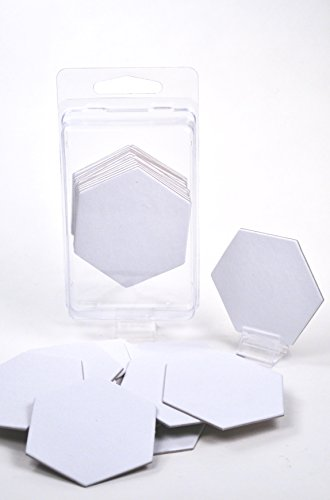 """Value Pack of 15 - Blank 2"""" Hexagon Hex Board Game Chits Tiles Counters Markers DIY D&D"""