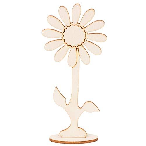 Lotus Fleur sur pied en bois 14,5 cm Fleur en bois Fleur Fleur Fleur de Fleurs Découpage Scrapbooking