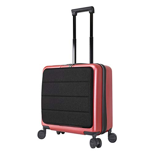 Adlereyire Trolley Suitcase Lightweight Durable Carry On Cabin Hand Luggage Set, Travel Bag with 4 Wheels (Color : Red, Size : 42 * 23 * 47cm)