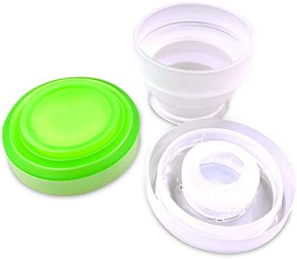 2 Pack Silicone Collapsible Travel Water Cup Portable Camping Cup with Lids Food Grade Mugs product image