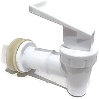 AquaNation BPA Free Replacement Cooler Faucet Water Bottle Jug Reusable Spigot Spout Water Beverage Lever Pour Dispenser Valve Water Crock Water Tap ((1) One Pack - White)