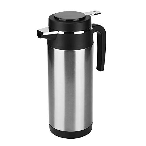 KIMISS 1200ML 12V / 24V Caldera del acero inoxidable del coche Hervidor de agua de electrica en el coche - Hervidores de bebida de viaje Taza de cafe de viaje Botella de agua(24V)