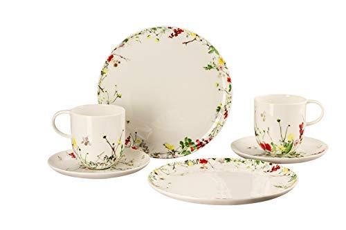 Rosenthal 10530-405101-28598 - Brillance - Fleurs Sauvages - 6-teiliges Set - Porzellan