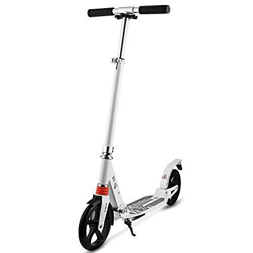 WeSkate City Roller Scooter Klappbar & Höhenverstellbar Roller für Erwachsene Cityroller mit Doppelfederung und Tragegurt