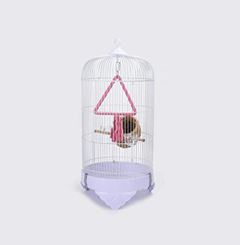 Space- rack Z-W-Dong Voliere Hanging, Gabbie pappagallini Cockatiels Monk Parrocchetti vetrina Gabbie Black Bird con altalene Uccelli/Gabbie (Color : White, Size : 33 * 33 * 70CM)