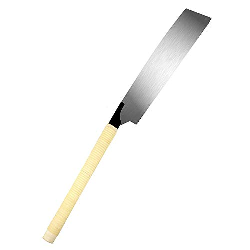 SUIZAN Japanese Hand Saw 10.5 Inch Kataba Single Edge Pull Saw for Woodworking