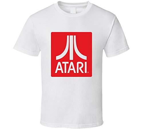 Atari - Camiseta clásica para videojuegos, color blanco