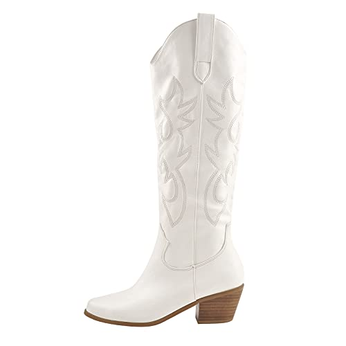Richealnana Knee High Boots Western Cowboy Boots for...