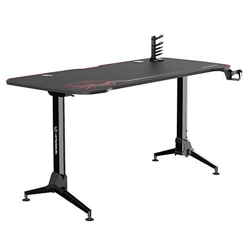Selsey Table de Gaming Noir/Rouge 160 x 70 x 70 cm