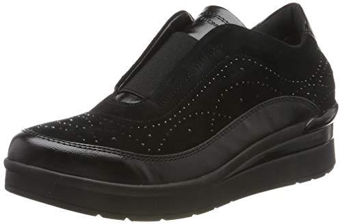 Stonefly Cream Laminated/Goat Suede, Sneaker Donna, Nero (Black 000), 39 EU