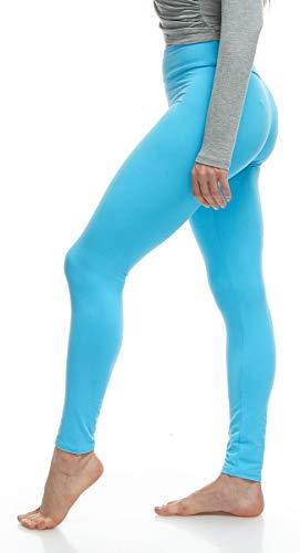LMB Lush Moda Extra Soft Leggings - Variety of Colors - Yoga Waist - Aqua
