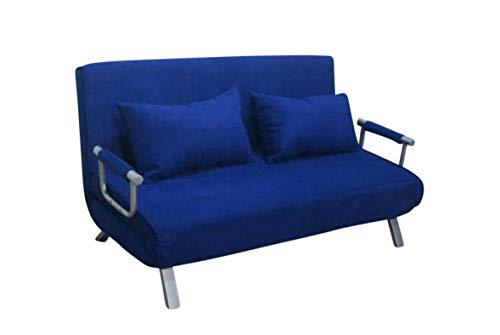 ITALFROM Divano Letto Sofa Bed Blu Divani 153x69x82h Divanetti Divano Letto 2 Piazze cod. 4033