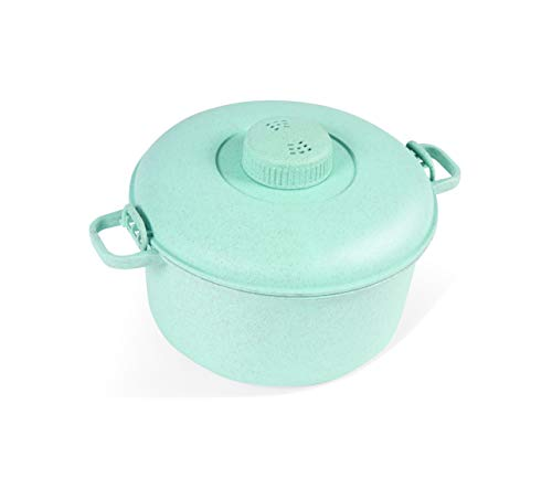 Handy Gourmet Eco Friendly Microwave Pressure Cooker - Easy Microwave Cooking - Easy & Fast Microwave Cookware for Rice, Chicken, Pasta, and More - Non-Toxic & Bio-degradable Material (Teal)