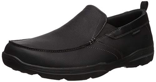 Skechers Men s Relaxed Fit: Harper-Forde Slip-On Loafer, Black Leather, 9.5 M US