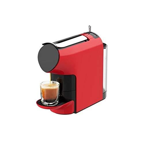 IMBM SCISHARE Cápsula Máquina de café pequeño y cómodo hogar semiautomática Máquina de café (Color : Red)