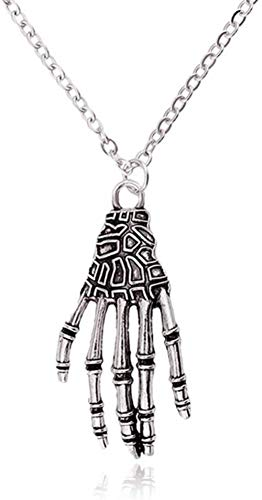 JSBVM Ladies Men Retro Classic Personality Fashion Charm Pendant Exaggerated Claw Necklace Halloween Jewelry