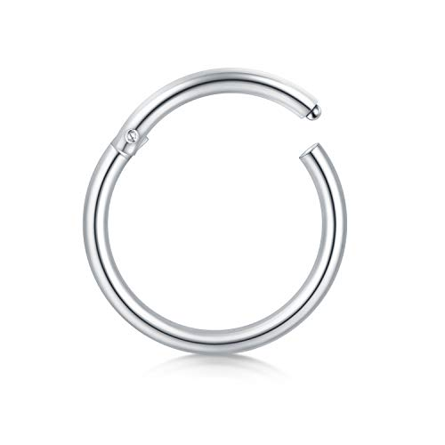 Briana Williams 18 Gauge Segment Nose Ring Hoop Stainless Steel Seamless Clicker Nose Lip Tragus Ring 8mm 10mm Body Jewelry