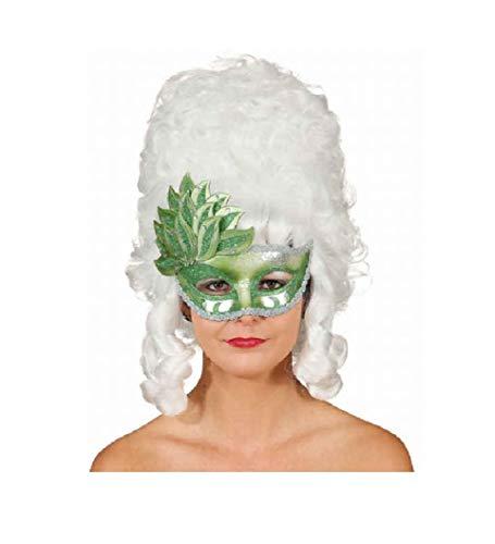 narrenkiste O46071 grün Damen Herren Venezianische-Barock-Rokoko Maske Halbmaske