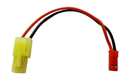 ikarex-shop Adapter Kompatibel zu Tamiya Mini (Grün) auf JST BEC Stecker / Buchse Adapterkabel RC Akku Lipo Verbindung