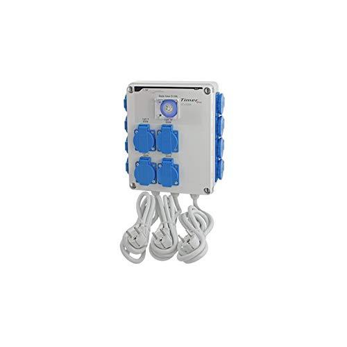 GSE Timer Box II 4 x 600 Watt - Cultivo interior lámparas de control tubo ventilador temporizador riego jardín (12x600 vatios 220 V)